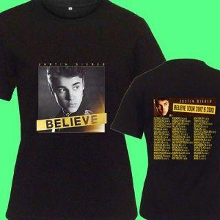Justin Bieber Believe Albun CD DVD Tickets Tour Date 2012 13 New Tee T