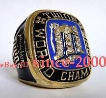 1987 MLB MINNESOTA TWINS WORLD SERIES CHAMPIONSHIP CHAMPIONS RING