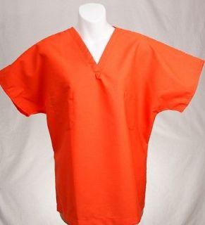 ORANGE Reversible Scrub Top M MEDIUM Medical Nursing Scrubs   NEW