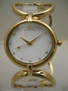 New JLo By Jennifer Lopez Women Circle Steel Gold Watch 35mm JL
