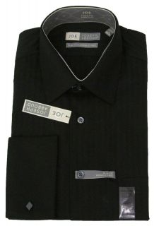 JOSEPH ABBOUD Mens Slim Fit Wrinkle Free Dress Shirt Subtle Black