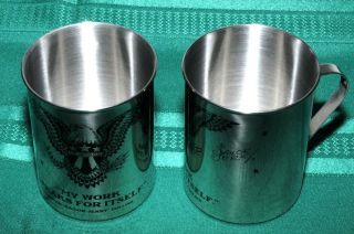 SAILOR JERRY TIN CUPS 2 cups stainless steel NEW FREE S