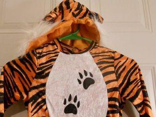 Child Halloween Tiger Costume Toddler Orange Black Dress Up Tigger Two