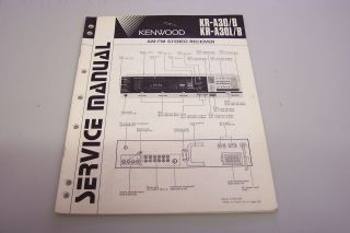 KENWOOD KR A30/KR A30L STEREO CASSETTE RECEIVER SERVICE MANUAL H/C