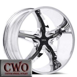 22 Chrome Status Dystany Wheels Rim 6x139.7 6 Lug Chevy Tahoe Escalade