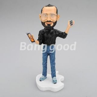 APPLE CEO Steve Jobs Resin Figurine Figure Doll Toy 18cm iphone 4 4S