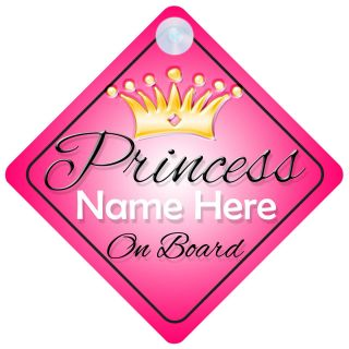 on Board Personalised Girl Baby/Child Car Sign   Choice of designs