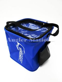 sniper sp609 eva foldable live bait fishing bucket blue from