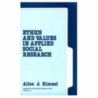 Social Research Vol. 12 by Allan J. Kimmel 1988, Paperback