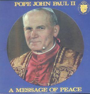 Pope John Paul II A Message Of Peace LP NM Canada Stardisc PIP 2