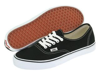 VANS AUTHENTIC BLACK / WHITE CANVAS MENS AND WOMENS NEW IN BOX SIZE