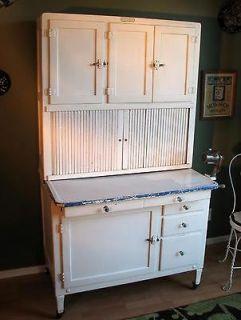 Antique HOOSIER Cabinet   Vintage 1920s All Original with Flour