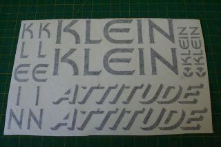 klein attitude mountain retro bike frame sticker decal from united