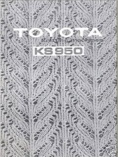 toyota knitting machine instuction manual ks950  13