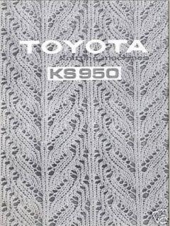 toyota knitting machine instuction manual ks950 time left $ 13