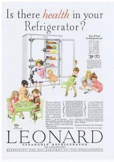 1928 vintage ad leonard refrigerator 5 ame returns accepted within