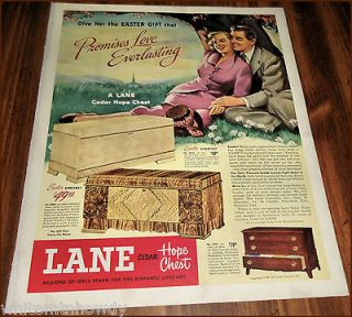 1949 LANE CEDAR HOPE CHEST AD Model 23242300​2221 Antique
