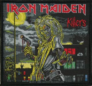 iron maiden killers sq woven metal music band patch