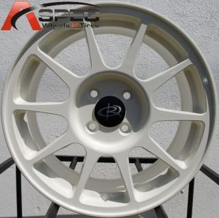 16X7 ROTA R SPEC 4X100 +45 CHAMPION WHITE WHEEL FITS CIVIC INTEGRA FIT