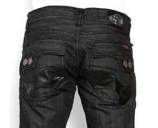 New Authentic Mens Laguna Beach Jeans Monarch Bay Black Stitch 42