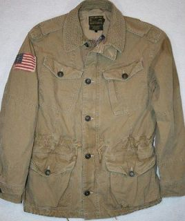 NWT $325 Polo Ralph Lauren SIZE MEDIUM Military Jacket Coat Mens M