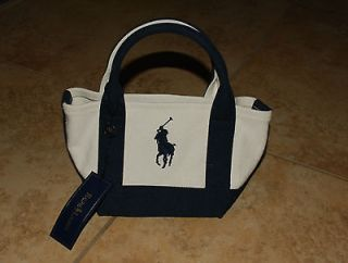 NWT Ralph Lauren Mini Blue Tote Bag Great for Holiday Gift