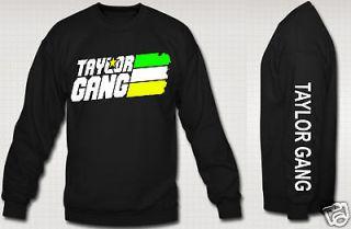 TAYLOR GANG OR DIE CREWNECK wiz khalifa rap hip hop hoodie tahlor gang