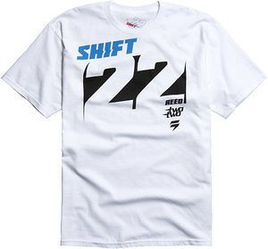 Shift Racing Chad Reed Knockout White Short Sleeve Tee Two Two