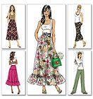 Boho Midi Maxi Long Skirt Pants Sewing Pattern Butterick 5330 Sz 8 10