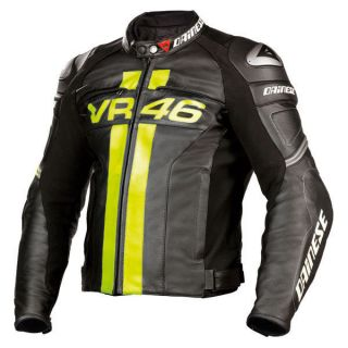 VR46 Valentino Rossi Pelle Leather Racing Jacket Euro 58 US 48 NEW