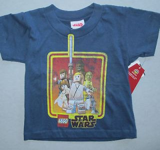 Star Wars Lego people toddler boy blue short sleeve t shirt 2 T NWT