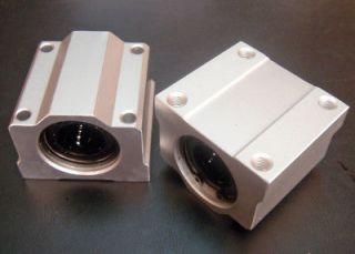2x Ø20mm Linear Ball Bearing Block DIY CNC Milling Machine Lathe XY
