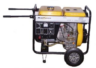 Diesel Powered Electric Start Portable Generator 6875 Watt Surge 5500