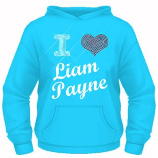 Girls Diamante I Love (heart) Liam Payne (One Direction) hoodie 5 13