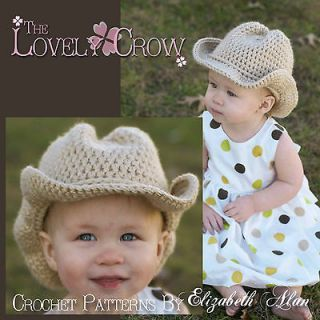 Newly listed Crochet Pattern Cowboy Hat Boot Scootn Cowboy Hat
