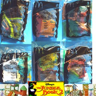 McDonalds Disney Jungle Book 2 complete 6 toy set 2003 new sealed in