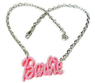 NICKI MINAJ ICED OUT PINK BARBIE PENDANT& 18 CHAIN NECKLACE   MP583