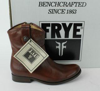 frye melissa button cognac soft leather women s short boots