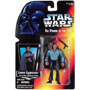 Star Wars Pof Red Card Lando Calrissian with Heavy Rifle and Blaster
