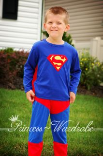 HALLOWEEN PRESENT Superman Super Hero Outfit Boy Kid Party Cosplay