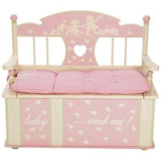 Newly listed PINK BENCH SEAT/TOY BOX CHEST PADDED MOMMY/KIDS STORAGE