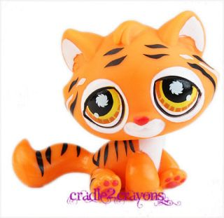 littlest pet shop lps orange bengal tiger cat 905 time