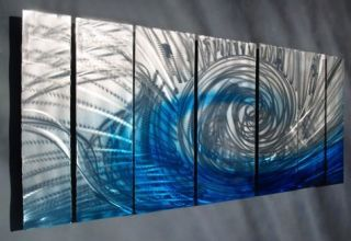 wide contemporary painting abstract metal wall art returns