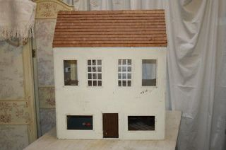 Hand Made Vintage LARGE Wood Doll House Wallpaper Windows Electric As