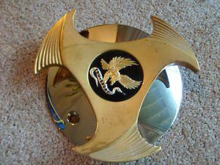 true spoke 3 prong gold chrome cover center cap 1  55 00