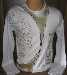 season versace white long sleeve t shirt size l