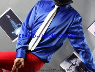 AEL JACKSON SMOOTH CRIMINAL SHIRT WITH WITH WHITE TIE MJ COSTUME