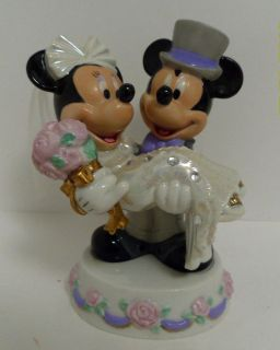 disney mickey minnie wedding figurine or cake topper time left