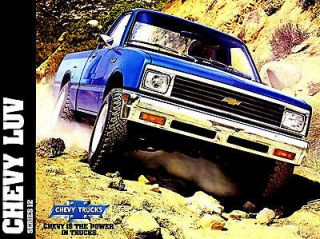 1982 CHEVY LUV PICKUP BROCHURE  LUV MIKADO CHEVY LUV 4X4 PICKUP TRUCK