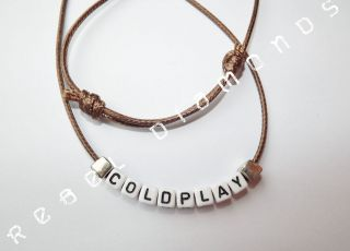 POP / ROCK BAND inspired surfer style necklace or personalise with any